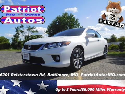 2014 Honda Accord for sale in Baltimore MD