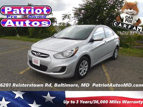 2014 Hyundai Accent for sale in Baltimore MD