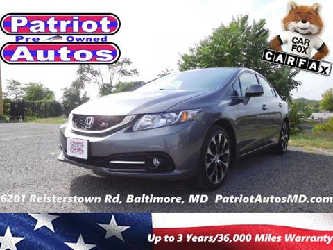 2013 Honda Civic for sale in Baltimore, MD