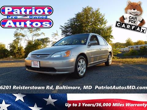2002 Honda Civic for sale in Baltimore, MD