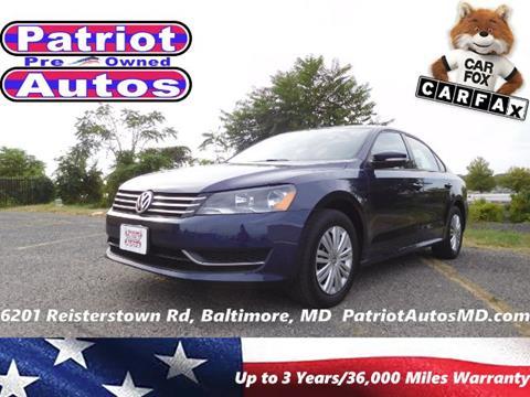 2014 Volkswagen Passat for sale in Baltimore MD