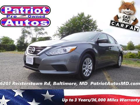 2016 Nissan Altima for sale in Baltimore MD