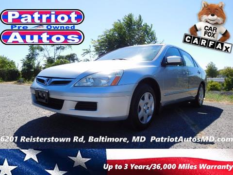 2007 Honda Accord for sale in Baltimore MD
