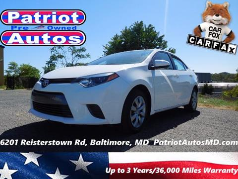 2015 Toyota Corolla for sale in Baltimore, MD