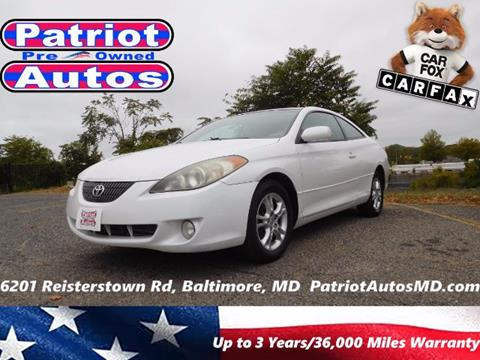 2005 Toyota Camry Solara for sale in Baltimore MD