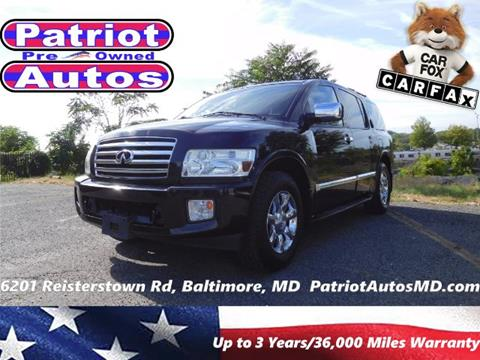 2007 Infiniti QX56 for sale in Baltimore MD