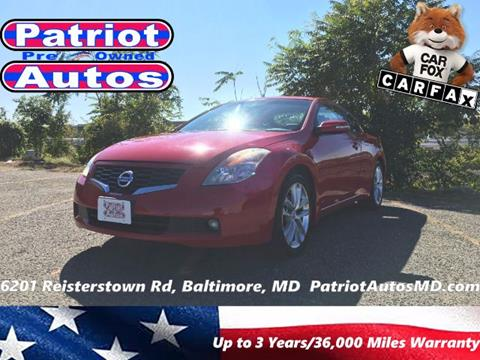 2009 Nissan Altima for sale in Baltimore MD