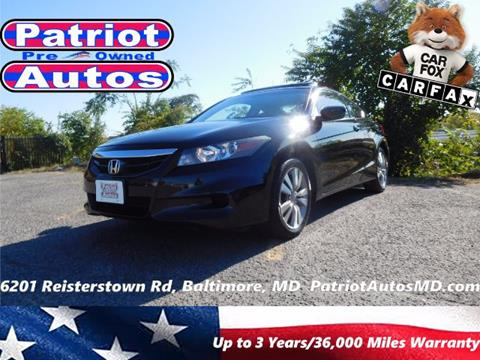 2012 Honda Accord for sale in Baltimore MD