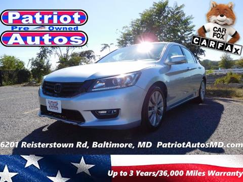 2013 Honda Accord for sale in Baltimore MD