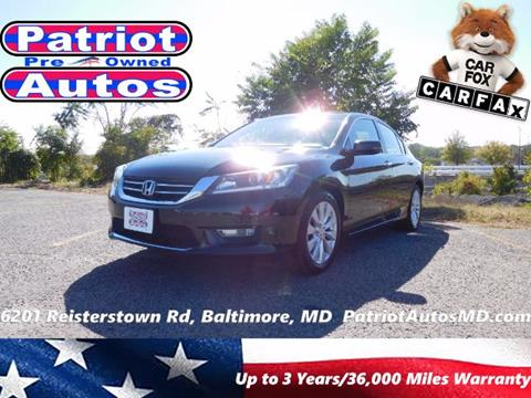 2013 Honda Accord for sale in Baltimore, MD