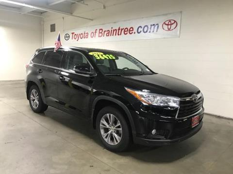 2015 Toyota Highlander for sale in Braintree MA