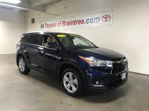 2015 Toyota Highlander for sale in Braintree MA