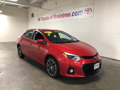 2015 Toyota Corolla for sale in Braintree MA