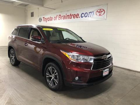 2016 Toyota Highlander for sale in Braintree MA