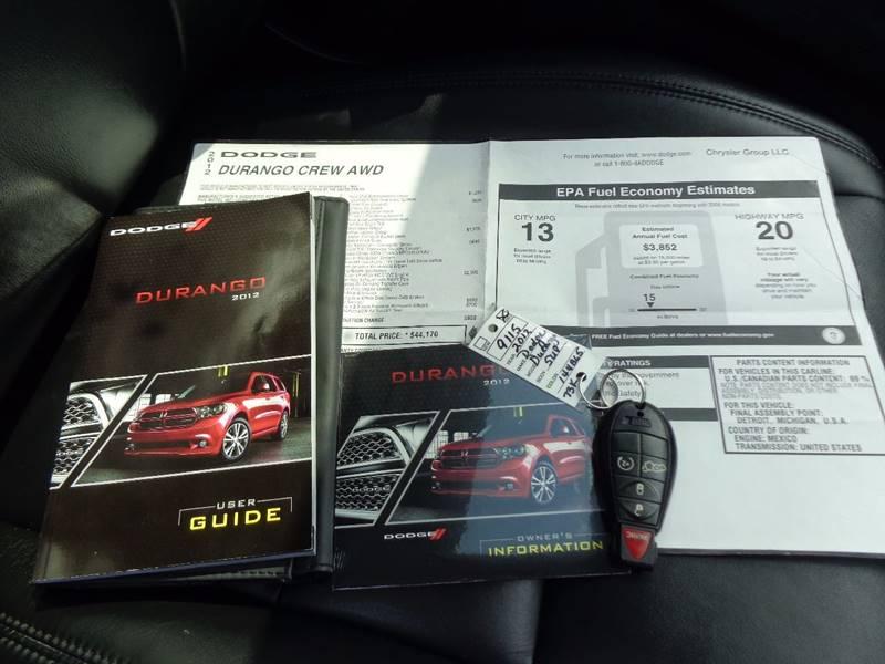 2012 Dodge Durango AWD Crew Lux 4dr SUV - Saratoga Springs NY