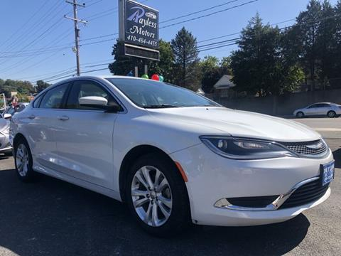 2015 Chrysler 200 for sale in Gwynn Oak, MD