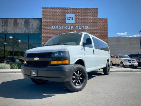 2018 Chevrolet Express Passenger for sale at Dastrup Auto in Lindon UT
