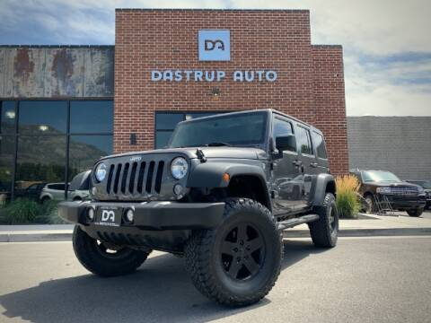 2016 Jeep Wrangler Unlimited for sale at Dastrup Auto in Lindon UT