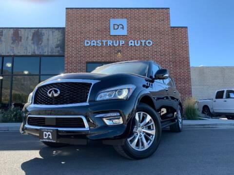 2017 Infiniti QX80 for sale at Dastrup Auto in Lindon UT