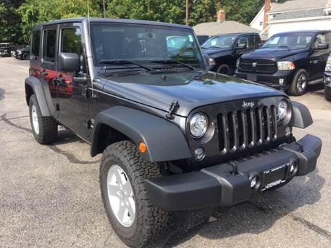 2017 Jeep Wrangler Unlimited for sale in Bennington, VT