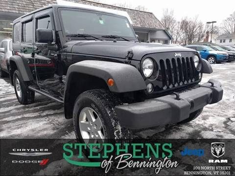 2014 Jeep Wrangler Unlimited for sale in Bennington, VT