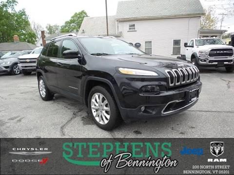 2015 Jeep Cherokee for sale in Bennington, VT