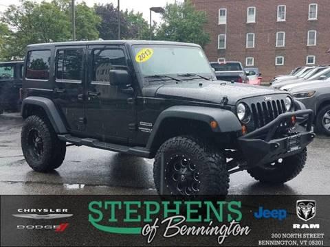 2013 Jeep Wrangler Unlimited for sale in Bennington, VT