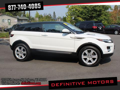 2014 Land Rover Range Rover Evoque Coupe for sale in Bellevue, WA