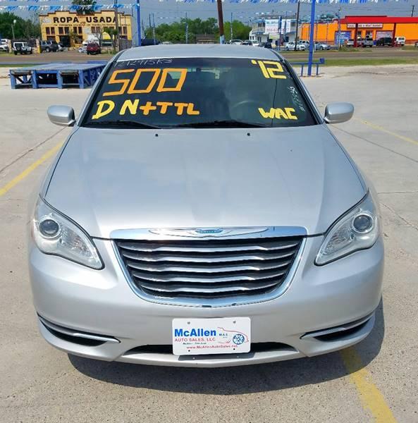 2012 Chrysler 200 LX 4dr Sedan - Mcallen TX
