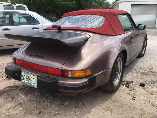 1988 Porsche 911 Carrera 2dr Convertible - Winter Park FL