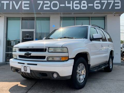 2003 Chevrolet Tahoe for sale at Shift Automotive in Denver CO