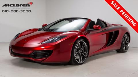 2013 McLaren MP4-12C Spider for sale in West Chester, PA