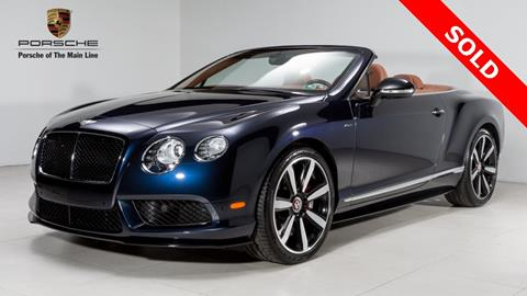 2015 Bentley Continental GTC V8 S for sale in West Chester, PA