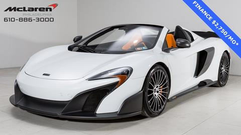 2016 McLaren 675LT Spider for sale in West Chester, PA