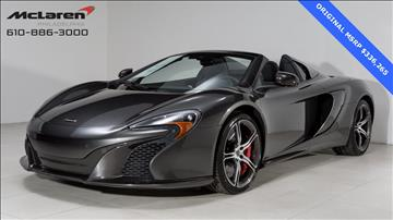 2015 McLaren 650S Spider for sale in West Chester, PA