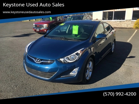 2016 Hyundai Elantra for sale at Keystone Used Auto Sales in Brodheadsville PA