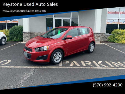 2012 Chevrolet Sonic for sale at Keystone Used Auto Sales in Brodheadsville PA