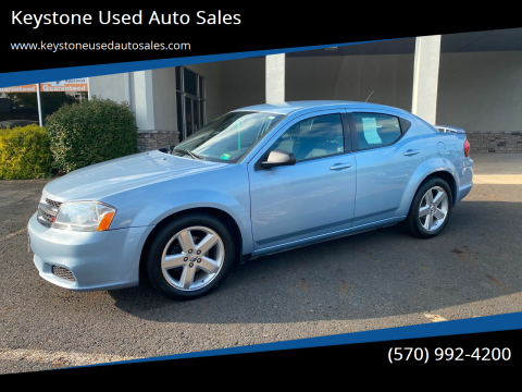 2013 Dodge Avenger for sale at Keystone Used Auto Sales in Brodheadsville PA