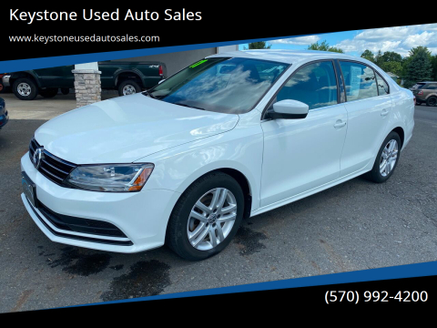 2017 Volkswagen Jetta for sale at Keystone Used Auto Sales in Brodheadsville PA