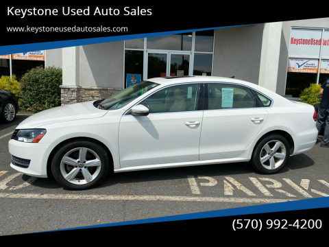 2012 Volkswagen Passat for sale at Keystone Used Auto Sales in Brodheadsville PA