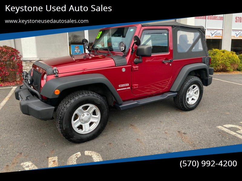 2013 Jeep Wrangler for sale at Keystone Used Auto Sales in Brodheadsville PA