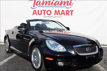 2002 Lexus SC 430 for sale at TAMIAMI AUTO MART LLC in Fort Myers FL