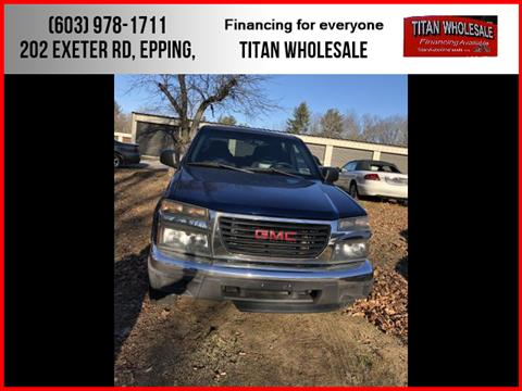2004 GMC Canyon for sale in Epping, NH