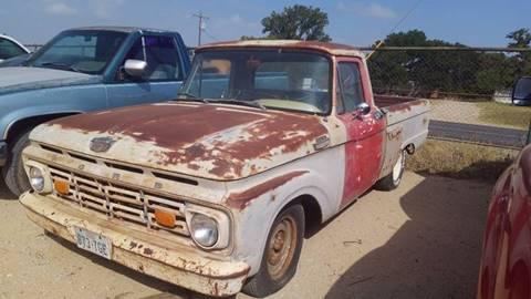 1964 Ford F-100 for sale at KK Motors Inc in Graham TX