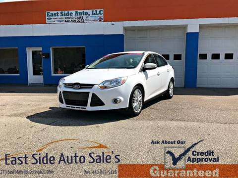 2012 Ford Focus for sale at EAST SIDE AUTO SALES in Conneaut OH