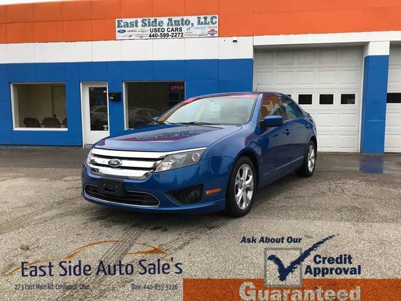 2012 Ford Fusion for sale at EAST SIDE AUTO SALES in Conneaut OH