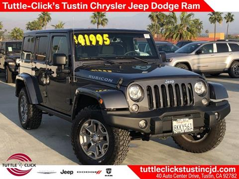 2018 Jeep Wrangler Unlimited for sale in Tustin, CA
