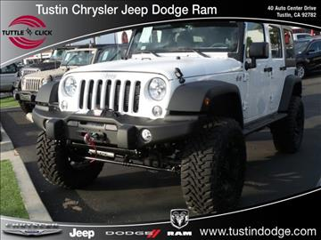 2016 Jeep Wrangler Unlimited for sale in Tustin, CA