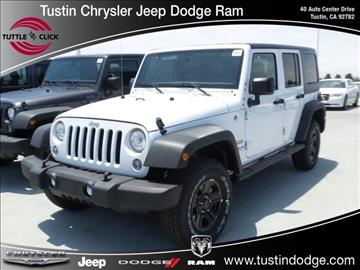 2017 Jeep Wrangler Unlimited for sale in Tustin, CA