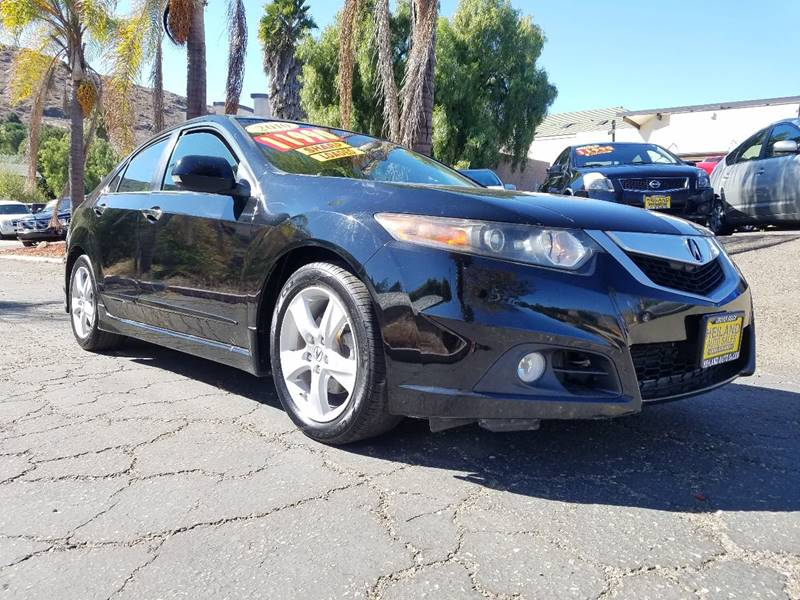 2010 ACURA TSX BASE 4DR SEDAN 5A black hard car to findcall today exhaust - dual tip door ha